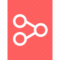 connection, data, document, graph, reprot, share icon