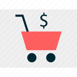cart, dollar, online, shop, shopping, sign icon