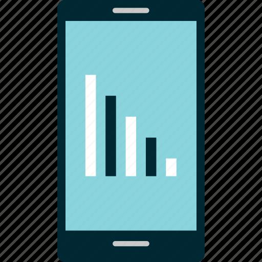 bars, data, graph, internet, phone, signal icon