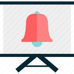 bell, board, learn, learning, reminder, schedule icon