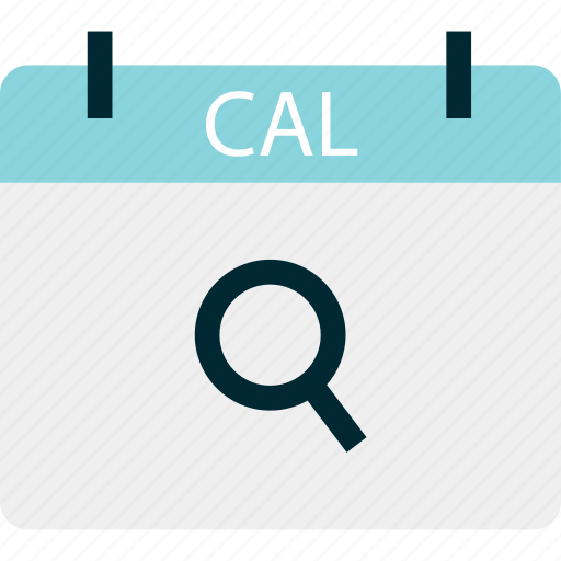cal, calendar, look, month, search icon