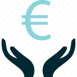 create, hands, money, rich, wealth icon