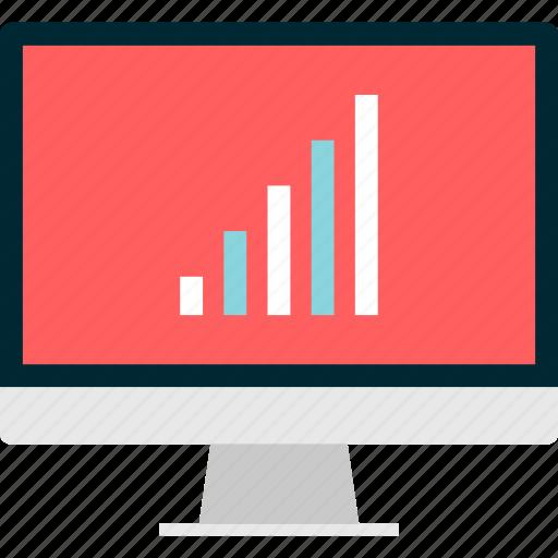 bars, business, computer, data, mac, screen icon