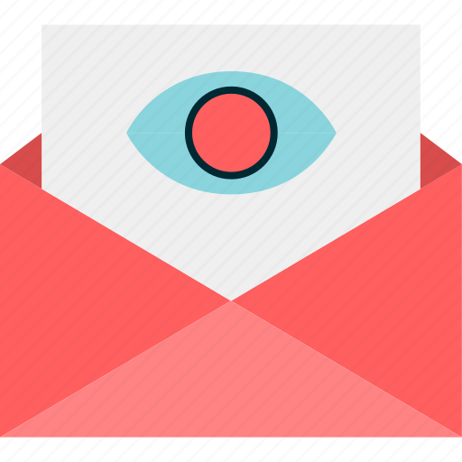 email, eye, find, look, mail, search icon