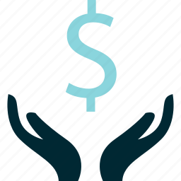 creation, dollar, hands, money, sign, wealth icon