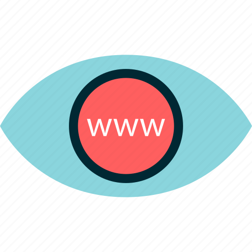 eye, internet, online, search, web, www icon