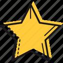 achievement, five, like, rate, shape, star icon