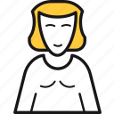 avatar, girl, manager, online, smile, user, woman icon