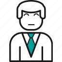 avatar, boss, business, man, manager, support, user icon