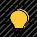 bright, bulb, business, good, idea, lamp, seo icon