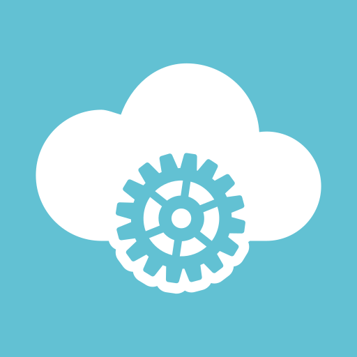 cloud, cloud computing, gear, optimization, preferences, settings icon