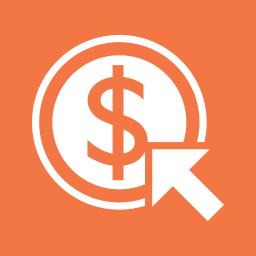 arrow, coin, dollar, money, pointer icon