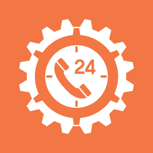 clock, gear, service, support, technical support, time icon
