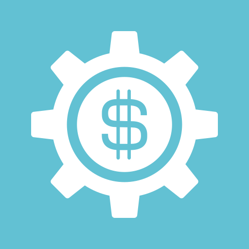 dollar, gear, money, options, preferences, settings, sign icon