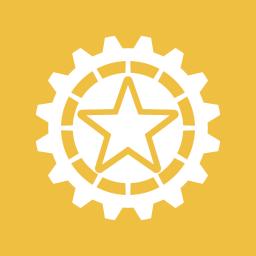 configure, gear, settings, star, starred icon