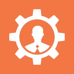 account, consultant, gear, profile, specialist, support, user icon