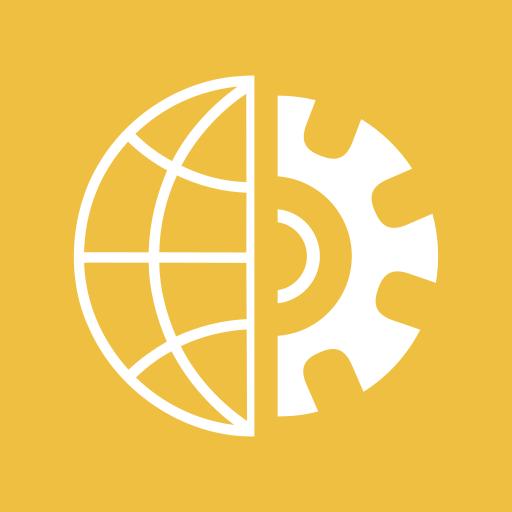 configuration, gear, globe, optimization, performance, settings, world icon
