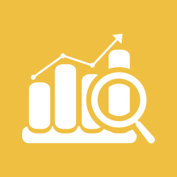analytics, analyze, graph, graphs, magnifier, strategy icon