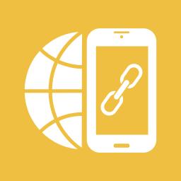 earth, globe, internet, link, link building, mobile, smartphone icon