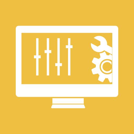 configuration, control, gear, monitor, panel, screen, settings icon
