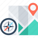 address, compass, gps, location, map, marker, navigation icon