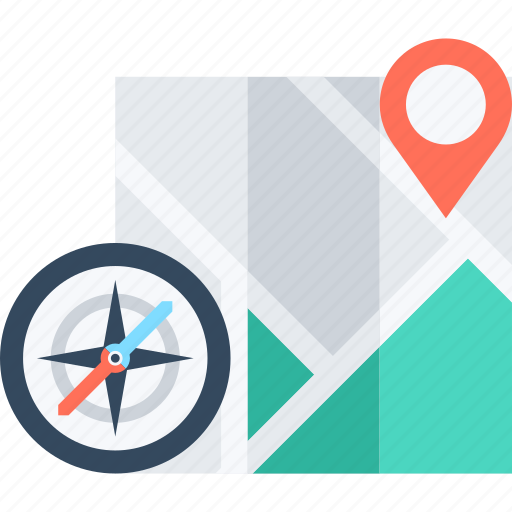 address, compass, gps, location, map, marker, navigation icon