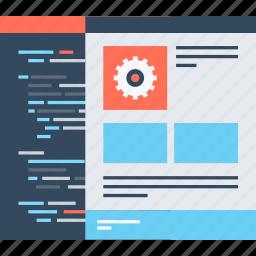 coding, design, development, optimization, program, software, web icon