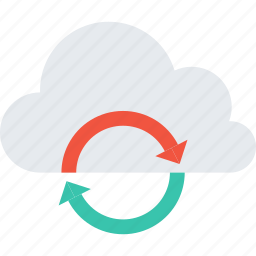 cloud, data, storage, store, sync, synchronization, update icon