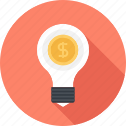 bulb, business, idea, light, marketing, money, solution icon