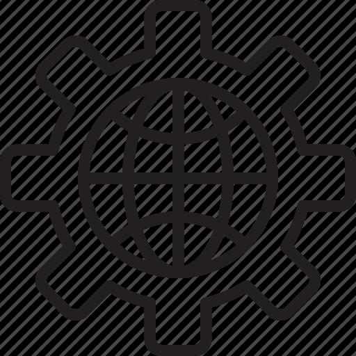 configuration, development, global, seo, service, setting, solution icon