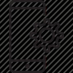configuration, design, device, optimization, phone, service, setting icon