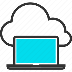 cloud, computer, computing, internet, laptop, online, web icon