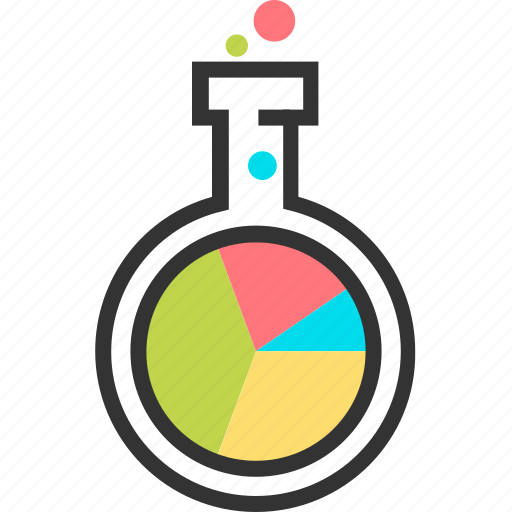 bubble, chemistry, data, laboratory, market, research, science icon