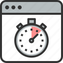 fast, improvement, optimization, page, speed, stopwatch, web icon
