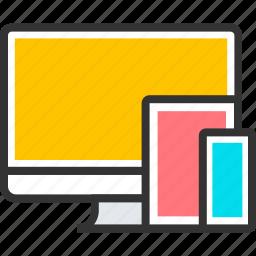 design, desktop, mobile, phone, responsive, smartphone, tablet icon