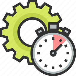 analyze, gear, performance, seo, stopwatch, track icon