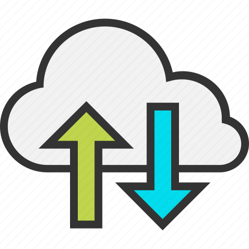 arrow, cloud, down, internet, sync, synchronization, up icon