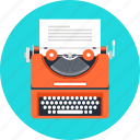 author, copywriting, document, typewriter, article, script, text