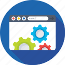 cogs, programming, web development, web tools, website icon