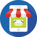 eshop, mobile, mobile shop, shopping, store icon