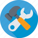 hammer, maintenance, repair, spanner, tools icon