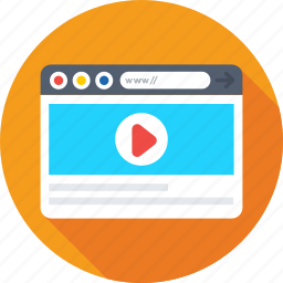 media, online video, streaming, video, website icon