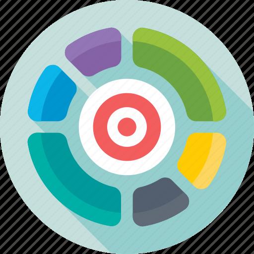 analytics, diagram, pie chart, pie graph, statistics icon