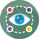 eye, look, monitoring, see, view icon