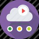 cloud computing, cloud data, icloud, media, networking icon