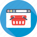 basket, ecommerce, eshop, shopping website, website icon