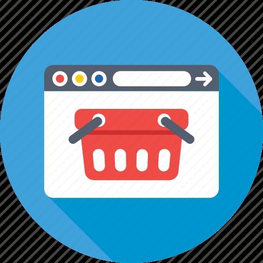 basket, ecommerce, eshop, shopping website, website icon