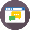 live chat, messenger, chatting, online chat, social media icon