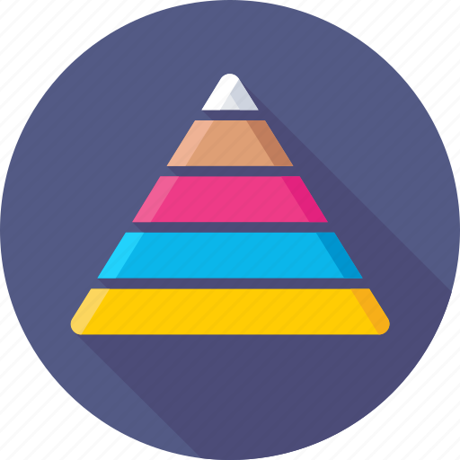 chart, diagram, graph, pyramid, triangle icon