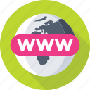 domain, globe, internet, url, www icon